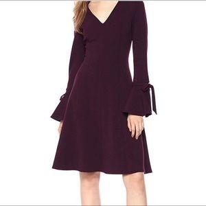 Calvin Klein eggplant bell sleeve dress